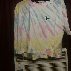 Vs pink tie dye crop b7